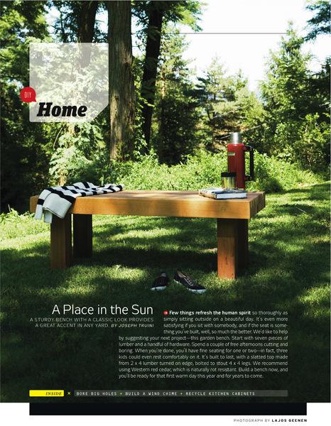 Ashley Klinger Co News Lajos Geenen In Popular Mechanics - Popular mechanics picnic table